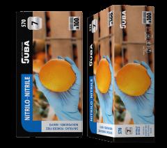 Caja de Guantes 100 unidades desechable de nitrilo sin polvo color azul