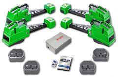 Kit de alineación Bosch FWA-4455-S1 con transmisión de datos vía Bluetooth y compensación de alabeo por empuje